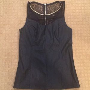 Express women's faux leather top.
